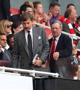 Aresnal majority owner Stan Kroenke (left) has shelled out more than €600m for a ranch in Texas