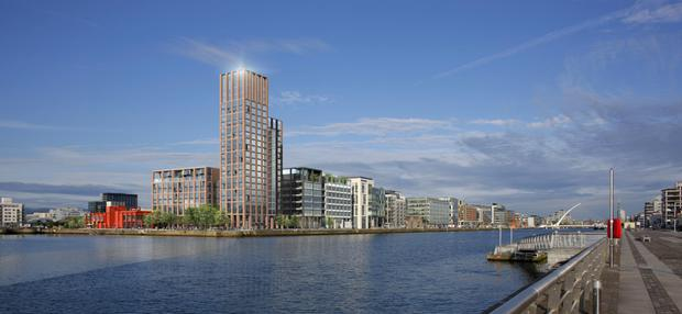 Kennedy Wilson's Capital Docks development is one of the few high rise properties to have got the go ahead from planners in recent years