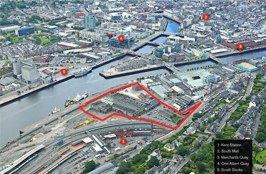 The site is adjacent to Kent Station in central Cork.