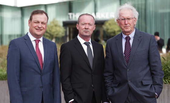 John McCann (centre) has joined Quinn Agnew, the firm led by Noel Quinn and Manus Agnew