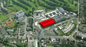 The St Vincent's campus with the proposed NMH in red.