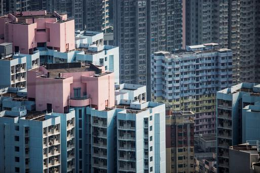 Apartments in Hong Kong. House prices there are falling but the government has not yet taken action to stabilise the market Photo: Bloomberg