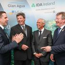 Martin Shanahan, ceo, IDA Ireland; Tom O'Connor, managing director of MEIC; Goncala Moura Martins, ceo, Mota-Engil; and Minister of State for the OPW Sean Canney. Photo: Aengus McMahon