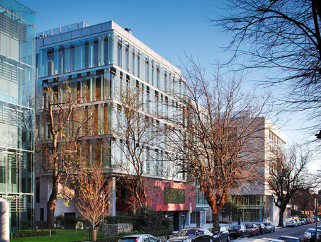Among the main investment properties in the Project Tolka portfolio are the Burlington Plaza office complex on Dublin's Burlington Road (pictured), Belfield Office Park and the old Children's Hospital on Harcourt Street in Dublin city centre.