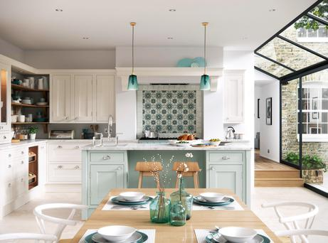 A recent survey shows Irish people prefer a traditional kitchen, like this one pictured which is designed by First
