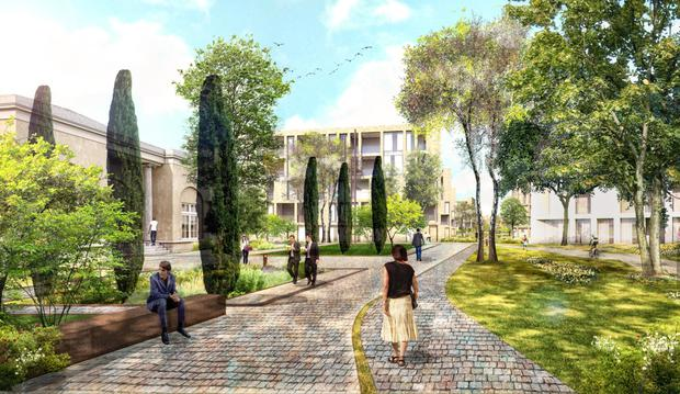 An artist's impression of how the site in Dublin 4 could look once developed