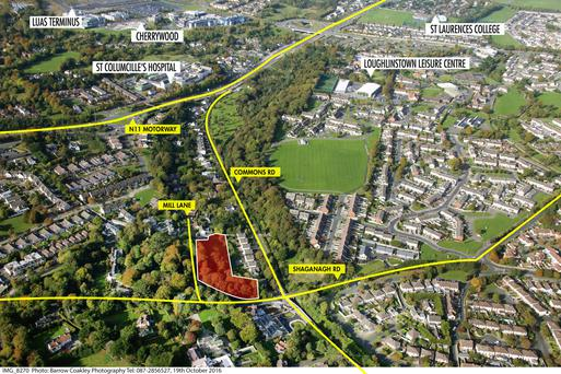 The 0.88 acre site in Shankill is well situated, close to transport links and other amenities