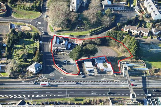 Aerial view of the one acre site expected to sell for €2 to 2.25m
