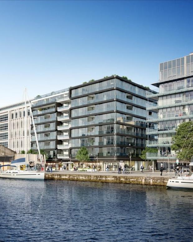 The shape of deals to come: Cairn Homes' sale for €101m of 120 apartments at Six Hanover Quay (pictured) to Carysfort Capital was one of the biggest PRS deals in 2018