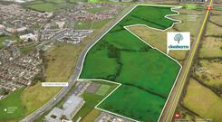 The 65 acres at Clonburris in west Dublin are guiding at €27.5m