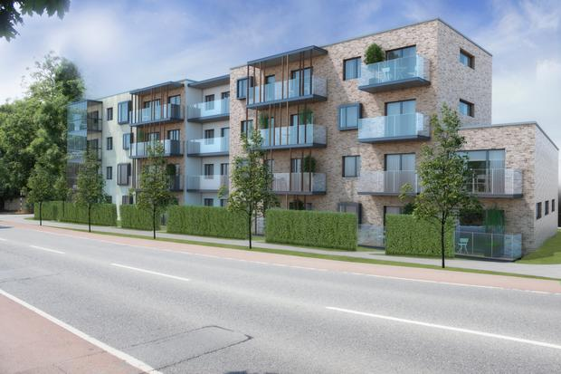 Development plans: The scheme proposed for Johnstown Road, Dun Laoghaire, will offer 49 apartments, comprising one and two-bedroom units, and one three-bed unit