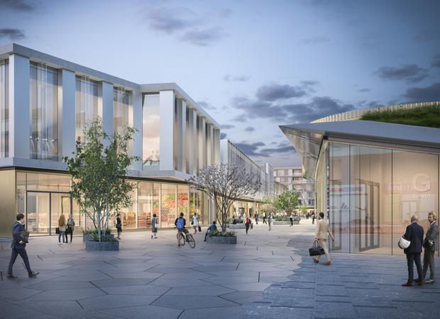 Green light: Quad 3 The Park, Carrickmines, will bring a swathe of new retail space to the Dun Laoghaire area