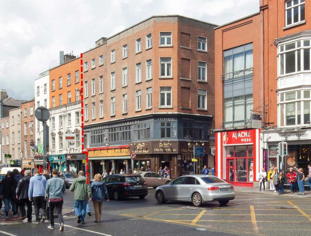 City centre: the 0.1-acre site is at the Dame St/Eustace St junction