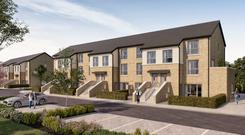 Demand: Elsmore apartments in Naas, Co Kildare, are already selling off plans