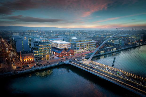 The redeveloped warehouse will overlook the capital's Liffey