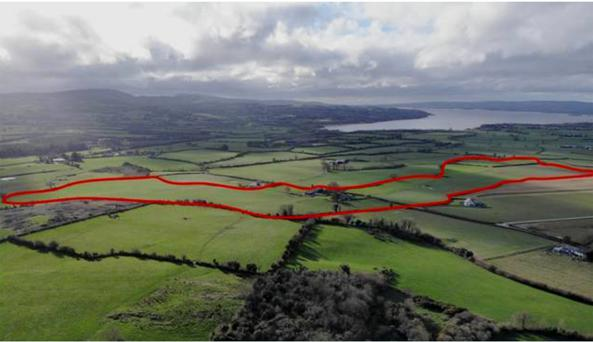 A 54ac residential holding at Ballycommon close to Lough Derg in north Tipperary sold for €596,000.