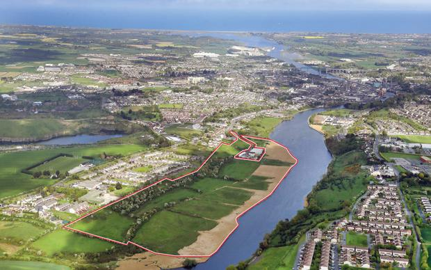 Riverside site: Over half this landholding is zoned for amenity/recreation