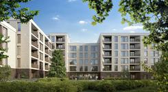 Artist's impression of the development on Upper Kilmacud Road, Dundrum, Dublin