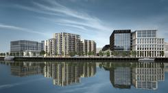 Waterside location: The six-acre Horgan's Quay development in Cork will have apartments, train station access, office space, a food market, shops, restaurants, a hotel and a crèche