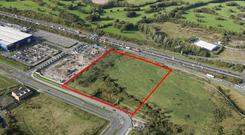 Well located: The 8.15 acre site in Ballymun, Dublin 11, is being sold by Dublin City Council