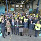 Growth: Minister for Employment Affairs Regina Doherty and staff launch Cabinpac's factory extension