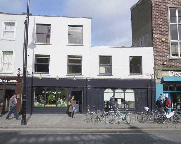 Mixed use: The two terraced buildings on Thomas Street, Dublin 8