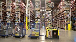 The logistics sector, driven by specialists in warehousing and distribution like Amazon, now dominates the market. Photo: Scott Olson/Getty Images
