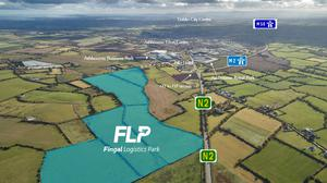 Branded as Fingal Logistics Park, it comprises 46.94 hectares which is currently zoned GE: General Employment under the Fingal Development Plan 2017 to 2023.