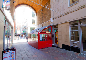 On the market: The four retail units are located in Quartiere Bloom on Lower Ormond Quay, Dublin