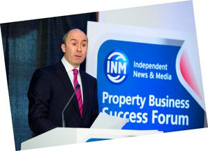 Kevin Nowlan speaking at the INM Property Business Success Forum
