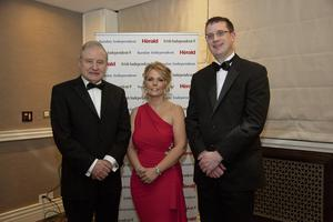 6-Feb-2014_John Grady (RIAI), Ciara Murphy (Director General of the Society of Chartered Surveyors Ireland) and Brian O'Driscoll (SCSI Director of Regulation). Photo: Michael Donnelly.
