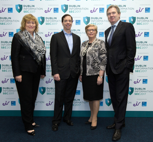 Alice Tolan, Business Development Manager, Eir Business; Bill Archer, MD Eir Business; Tanaiste and Enterprise Minister Frances Fitzgerald; and Stephen Rae, INM's Group Editor-in-Chief