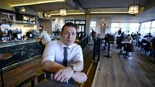 Manager Will Malone at Wetherspoons' The Forty Foot in Dun Laoghaire. Photo: Dave Meehan