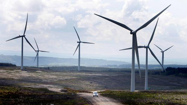 File photo dated 20/05/09 of a wind farm in Scotland as removing public subsidies for onshore wind farms would undermine the UK's credibility at crucial UN climate talks, according to Scotland's energy minister. PRESS ASSOCIATION Photo. Issue date: Sunday June 7, 2015. Fergus Ewing has called on UK Energy Secretary Amber Rudd to clarify the Government's plans for reforming the subsidy regime for the sector. The Department of Energy and Climate Change (DECC) is expected to announce