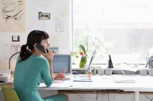 Many remote workers will not return to their offices or desks, fewer executives will travel internationally for meetings that can be more efficiently conducted virtually, and more audio-only sales calls will be stepped up to video-conferencing (stock photo)