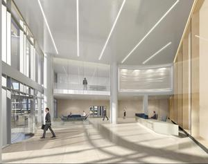 An artist's impression of the lobby area