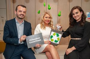 Green Pledge: Glandore's Barry Williams, Danielle Healy and Simona Pace. Photo: Brian Lougheed