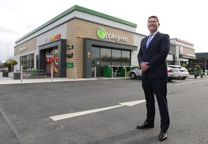 Widespread: Applegreen has almost 500 sites in Ireland, the Uk and US. Pictured is Joe Barrett, the company's chief operating officer