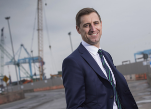 Gordon O'Regan of L&M Keating Ltd at Dublin Port. Photo: Fergal Phillips