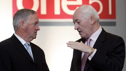 Scaling up: Philip Lynch with One51 chairman Denis Buckley (L)