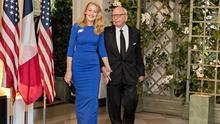 Success story: Media mogul Rupert Murdoch and his wife Jerry Hall. Photo: Andrew Harrer/Bloomberg
