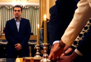 Newly appointed Greek Prime Minister and winner of the Greek parliamentary elections, Alexis Tsipras