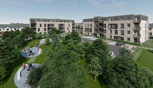 Rejected: The developer's rendering of the proposed Rosshill Manor