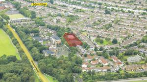 An aerial view of the Raheny site