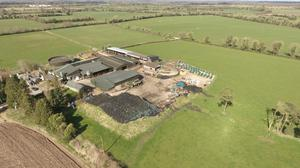 Ready to go: The 187ac residential dairy farm with capacity for 400 cattle is located at Kilmurray near Trim and it sold at auction for almost €10,700/ac