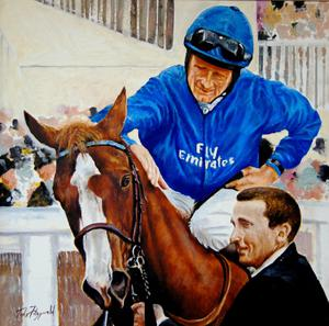 Vivid: John Fitzgerald's portrait of the Jim Bolger-trained Dawn Approach at Ascot 2013 with Kevin Manning on board.