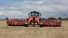 Maximumn returns: Garry Walsh says the Kuhn Merge Maxx rake can pick up to 20pc more grass per day than other models on the market.. Photo: Hany Marzouk