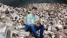 Burning ambition: Nick Cotter Jnr (pictured) and his brother Jack started their firewood business while they were both still in school. Photo: Liam Burke
