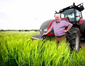 Rubbing shoulders with celebrity chefs:  Padraic Gilligan pictured on his Roscommon farm. Photo: Brian Farrell