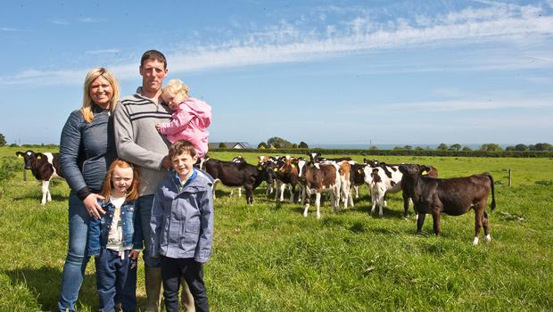 Noel McCall with his wife Louise and children Lauren, Josh and Kimmy in Blainroe, Co Wicklow